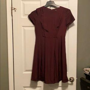 Wine colored dress